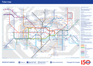 London Underground Railway Map