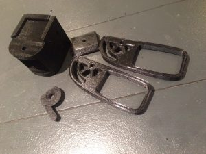 3d printed parts for volumetric camera mount.