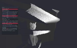 3d cat rendered as pointcloud