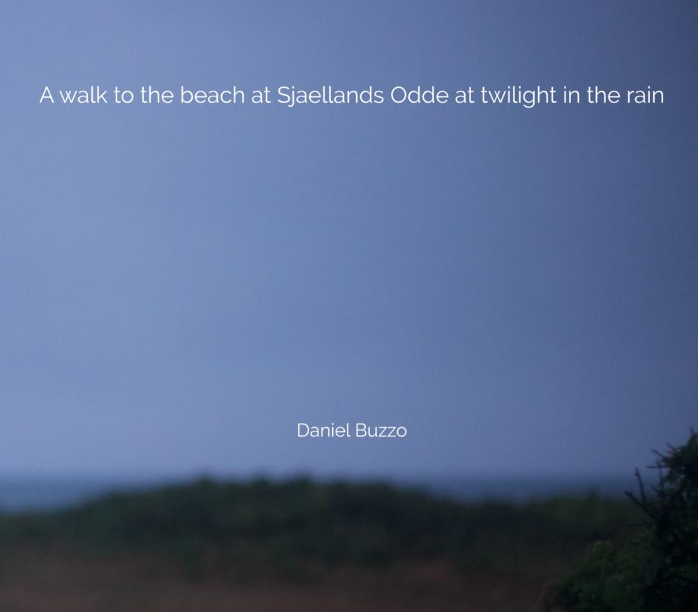 image of seashore at twilight in the rain